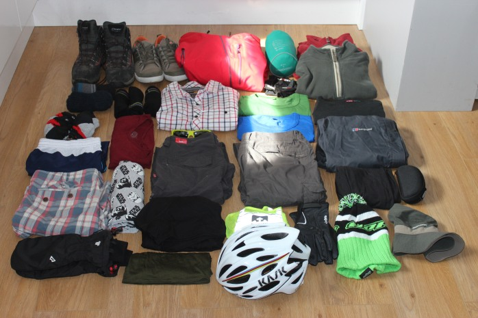 Cycle Touring Clothing Kitlist
